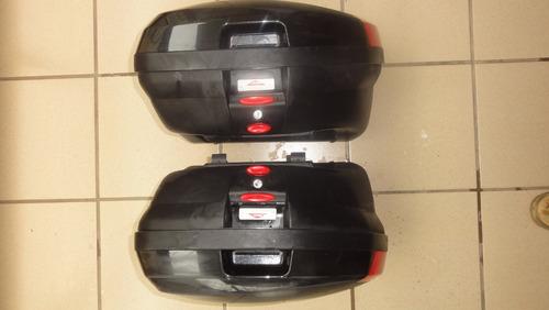 par bagageiro lateral kawasaki versys 2012 original - usado