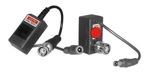 par balun transceptor video corriente por cable de red utp