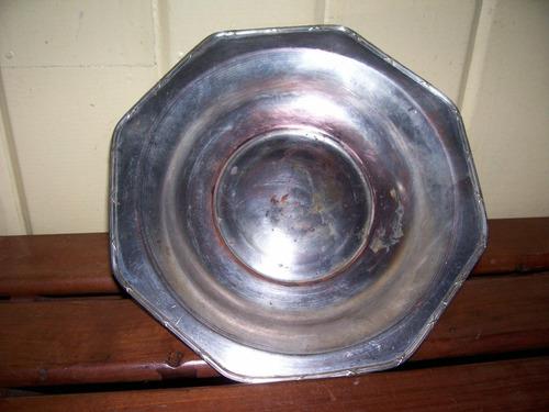 par bandejas de bronce plaqueadas antiguas