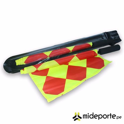 par banderines para juez de linea - arbitro asistente futbol