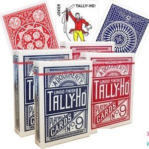 par baralho tally-ho circle back + par tally-ho fan back