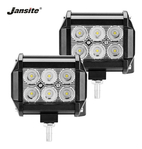 par barra faro 6 led 18w fijo estrobo dually 4x4 jeep rzr