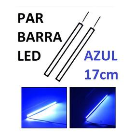 Par Barra Led Super Farol Drl Luz Azul 12v Carro Moto 17cm