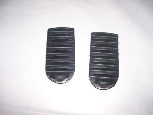 par borracha pedaleira dianteiras (2 peças) honda bros 150