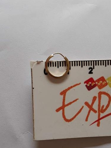 par brinco infantil de argola ouro 18k 1cm ou segundo furo