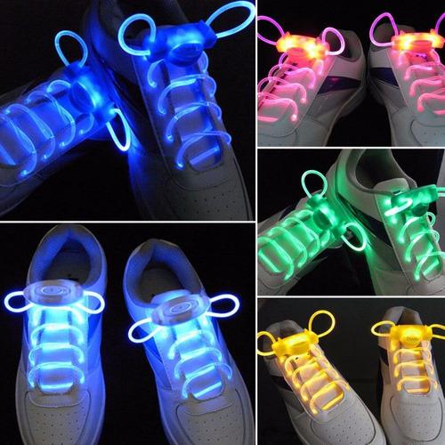 par cadarço led tenis luminoso neon  festa esporte noturno