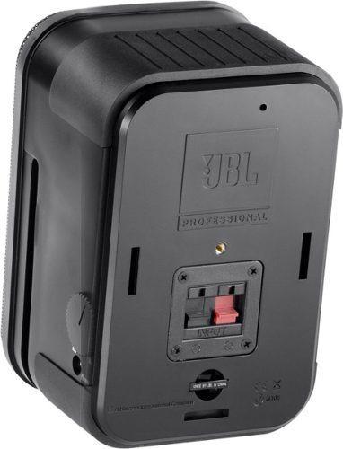 par caixas de som satélite monitoras jbl control one preta
