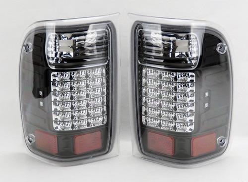 par calaveras negras led taillights ford ranger 1993 - 2000