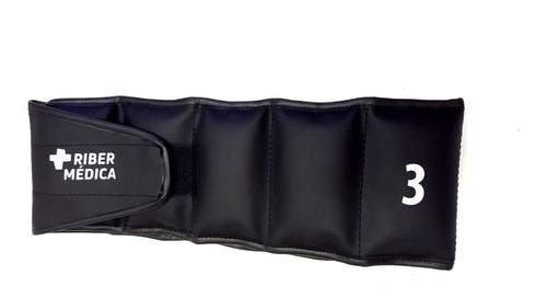 par caneleira tornozeleira peso 3 kg musculação ribermedica