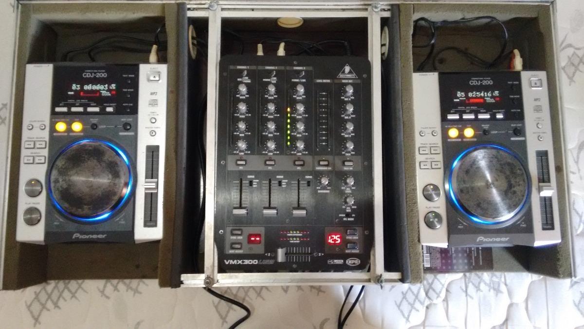 9c3cdf6c0 Par Cdj Pioneer 200 + Mixer Behringer Vmx 300 Usb Com Case - R ...