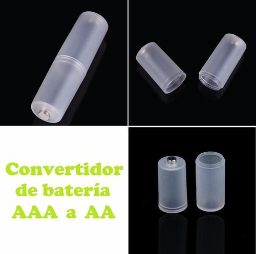 par convertidor adaptador | de bateria aaa hacia bateria aa