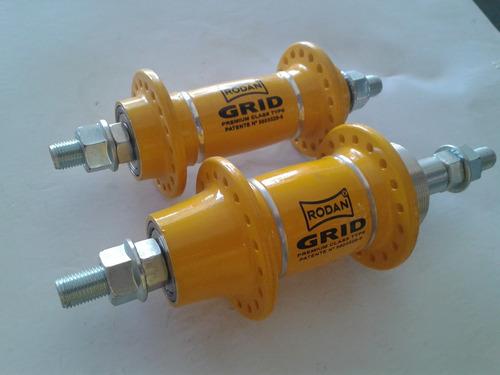 par cubos aluminio rodan grid 36f rolamento amarelo