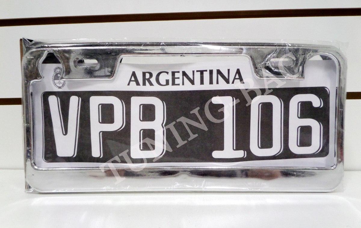 Par Cubre Patente Auto Marcos Cromado Tuning - $ 95,00 en Mercado Libre