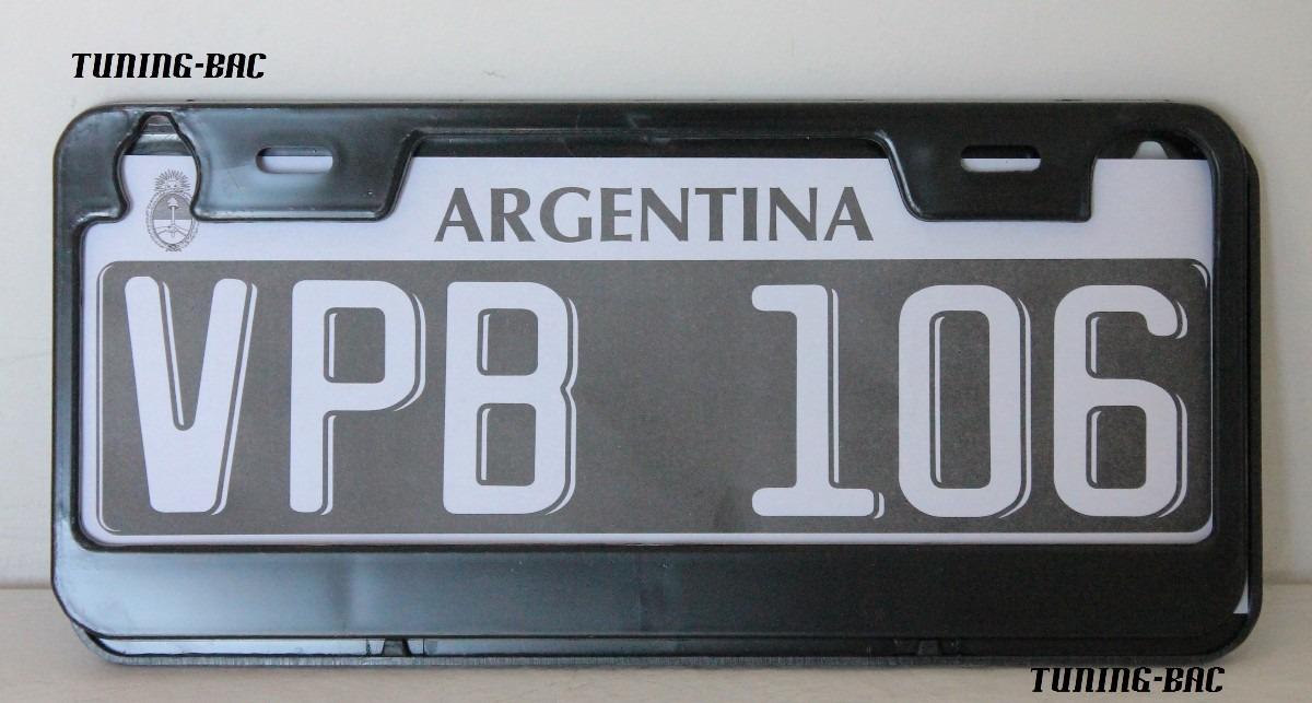 Par Cubre Patente Auto Marcos Tuning - $ 40,00 en Mercado Libre