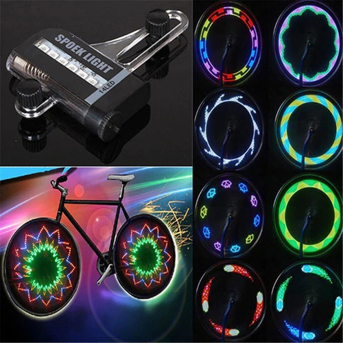 par de 2 luces de rines de bicicleta rueda rayos seguridad