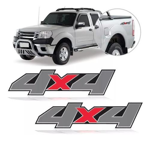 par de adesivo lateral 4x4 ranger 2006 2007 2008 2009