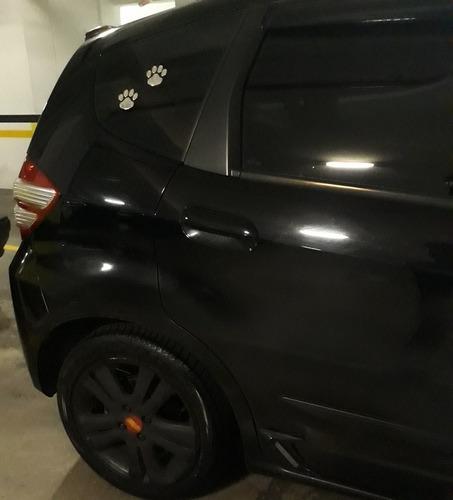 par de adesivo patinhas cachorro gato 3d cromado carro dog