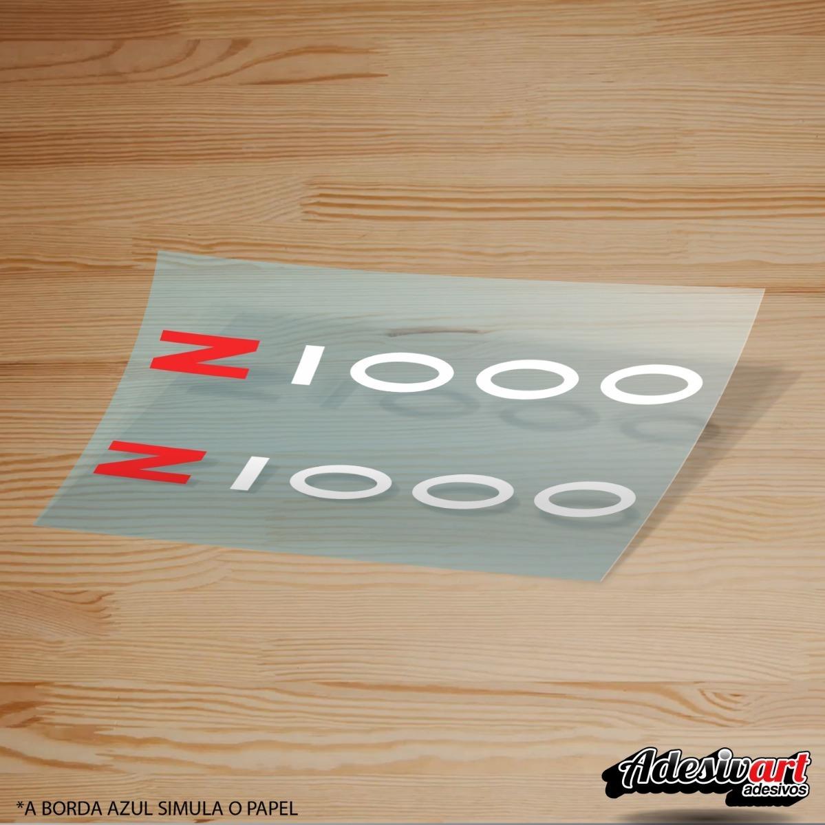 Par De Adesivos Rabeta Kawasaki Z1000 Z 1000 Modelo