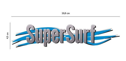par de adesivos super surf saveiro parati gol 03/08 cinza