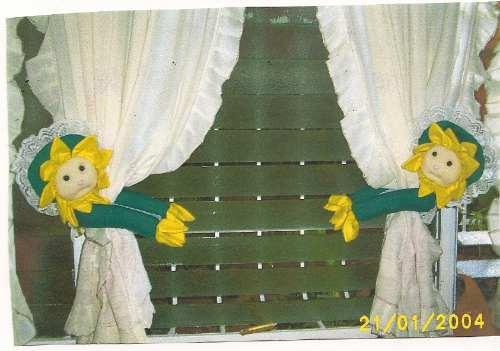 par de agarraderas de cortinas
