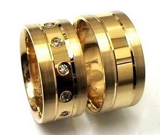 par de aliança 22 gramas 8,5mm ouro 18k