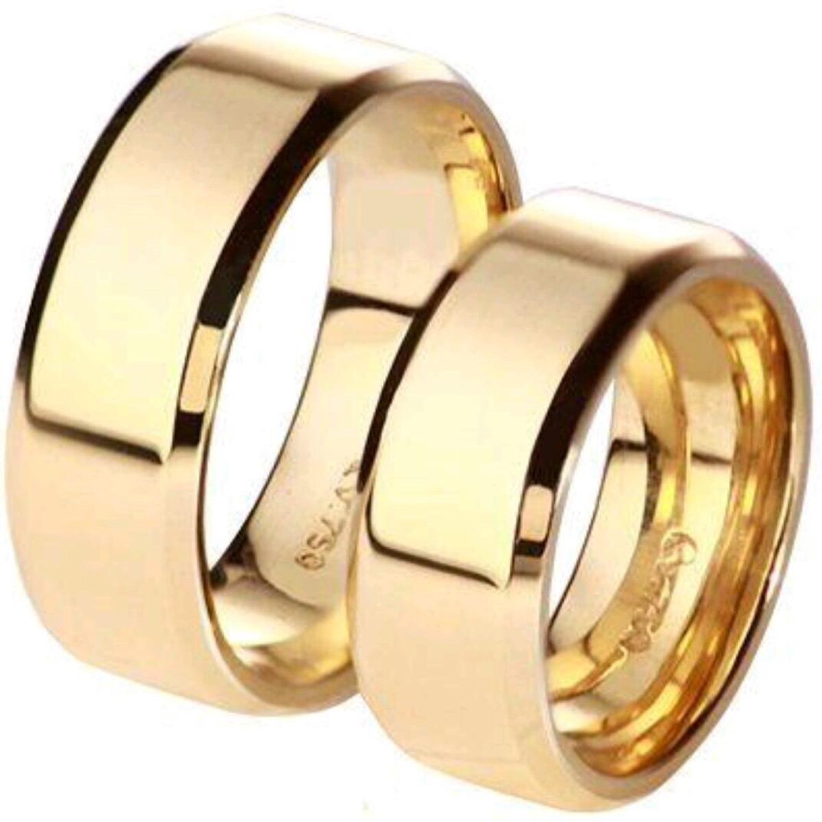 6887d118458 Par de aliança em ouro modelo italiano luxo jpg 1200x1200 Modelos de  aliancas