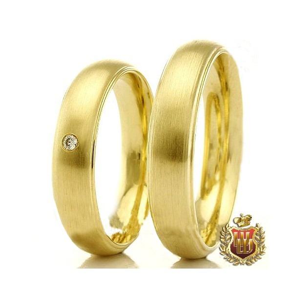 80fb77417e870 Par De Aliança Em Ouro 18k 750 Com 1 Diamante De 1