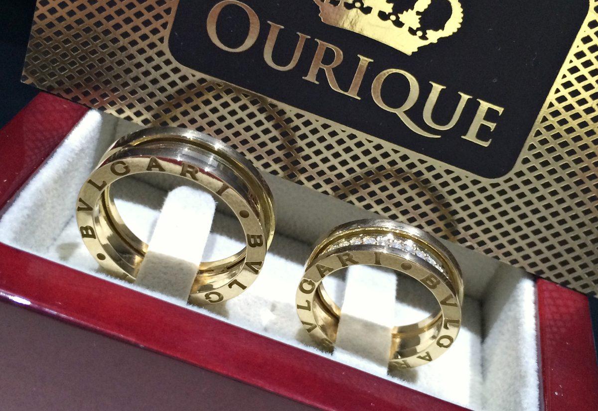 ec071224dae par de aliança em ouro 18k modelo 3d com diamantes luxo. Carregando zoom.