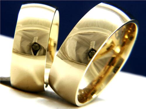 par de aliança tradicional em ouro 18k 750  promoção