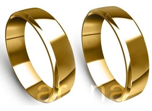 par de alianças 5mm 9 gramas noivado e casamento!