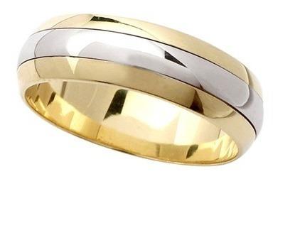 par de alianças bodas de prata 14g 7mm ouro 18k