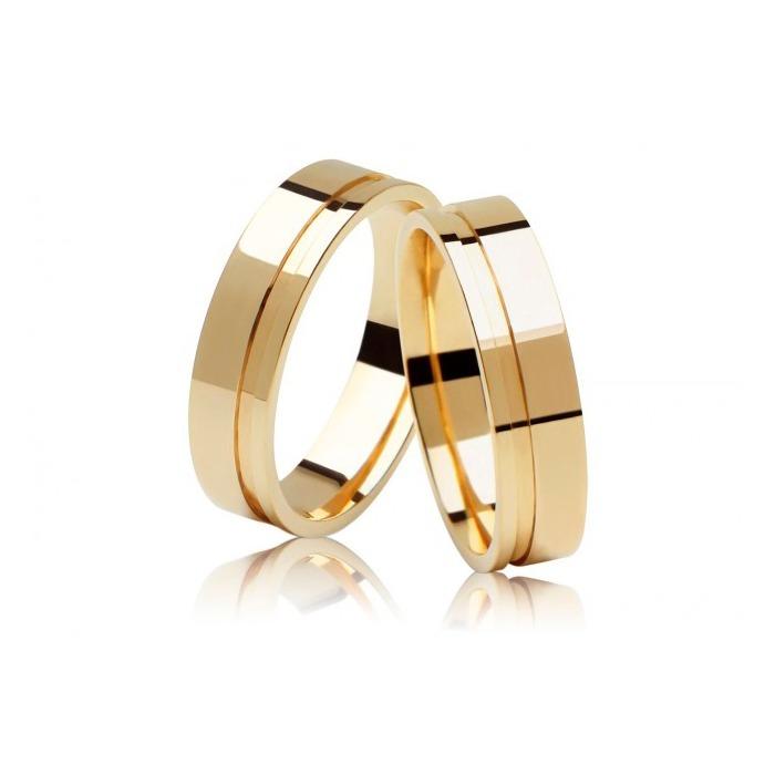 90ef71404b7f7 Par De Alianças Casamento Noivado Ouro 18k 5mm 9 Gramas - R  2.176,83 em  Mercado Livre