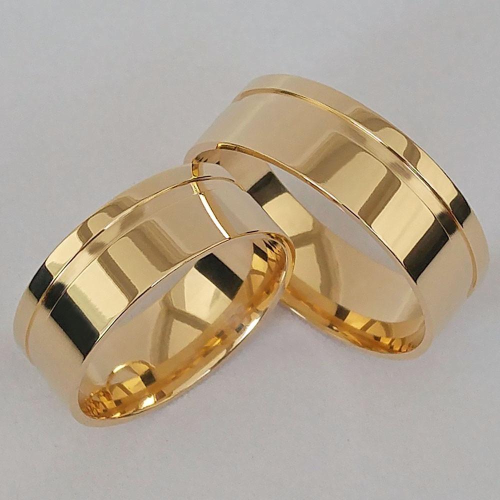 7f2575f844295 Par De Alianças Casamento Noivado Ouro 18k 9mm 13 Gramas - R  3.155 ...
