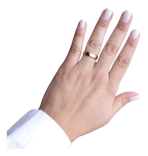 par de alianças de casamento aço inoxidável cirúrgico de 5mm
