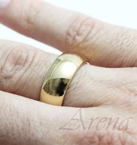 par de alianças de ouro 18k 12 gramas 5mm anatômicas