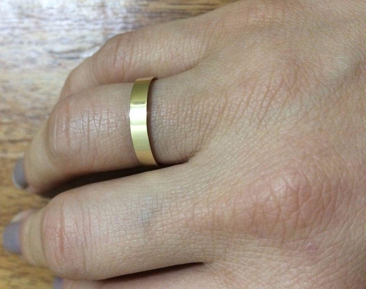 30eb6058c65 par de alianças de ouro 18k 4mm 3g reta casamento noivado. Carregando zoom.