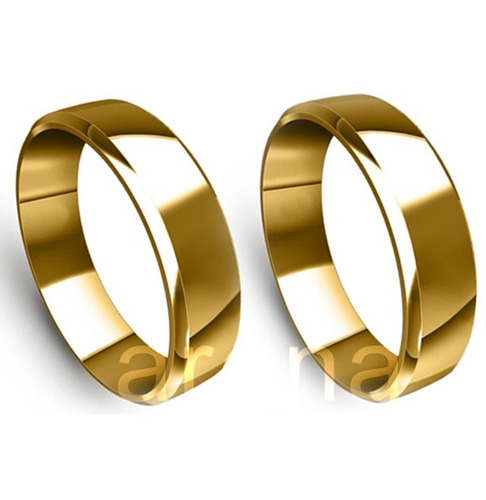 par de alianças de ouro 5mm 5 gramas 18k casamento e noivado