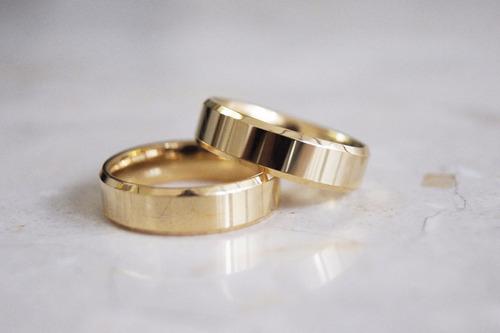 par de alianças de ouro 5mm 5 gramas 18k, frete grátis!