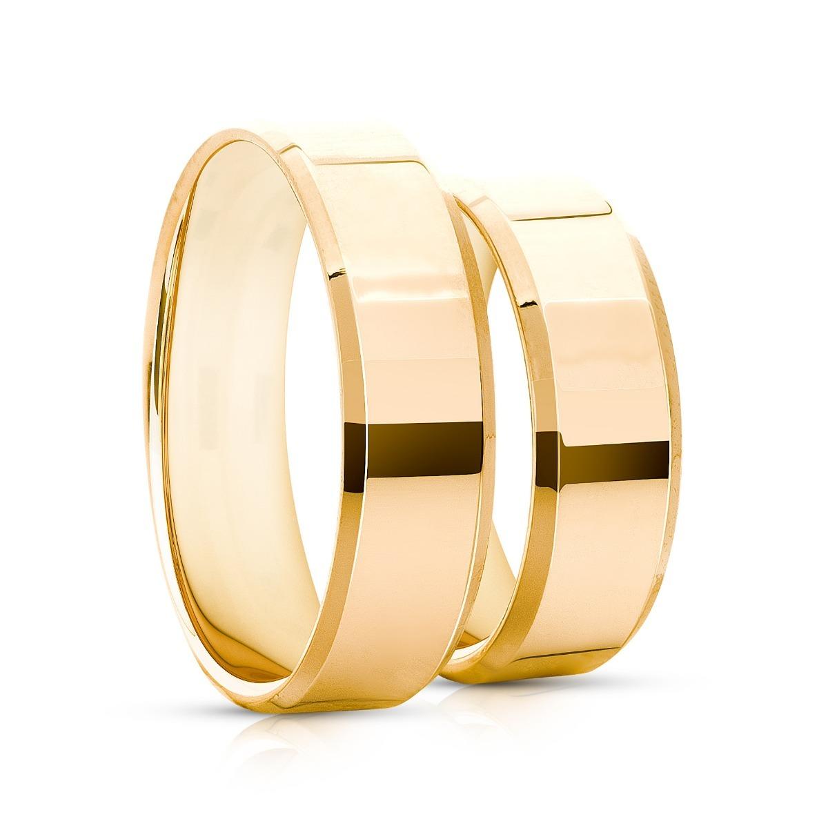 4c17e53e3a7b2 Par De Alianças De Ouro 5mm 7 Gramas 18k Casamento E Noivado - R ...
