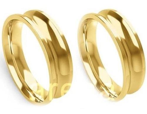par de alianças de ouro 7 mm 16 gramas 18k, frete grátis!