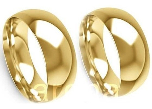 par de alianças de ouro 8 mm 16 gramas 18k, frete grátis!