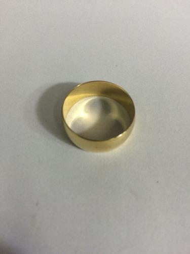 par de alianças em ouro 18k 0.750 com 6mm 8grs. frete gratis