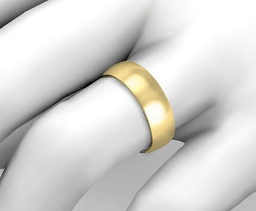 par de alianças em ouro 18k 14 gramas 6mm - tradicional