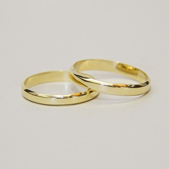 2b1755377a6ac Par De Alianças Em Ouro 18k 4 Gramas 3mm Casamento A Noivado - R  978,30 em  Mercado Livre