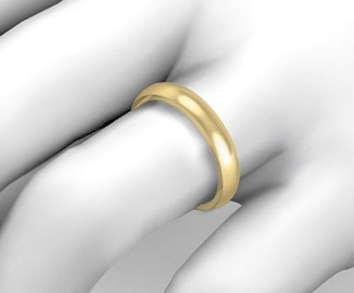 par de alianças em ouro 18k 4mm 8gramas - alianças ouro 18k