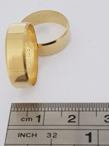 par de alianças em ouro 18k 750  6 mm 6 gramas o par wjc60