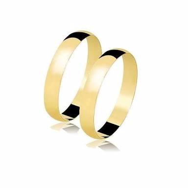 par de alianças em ouro puro 18k casamento noivado namoro