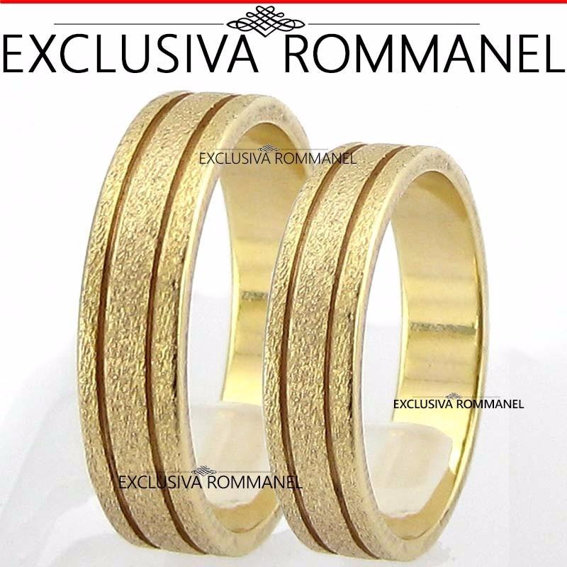 Aparador De Aliança Rommanel Mercado Livre ~ Par De Alianças Folheadas Ouro Rommanel Trabalhadas 4,3mm R$ 245,90 em Mercado Livre