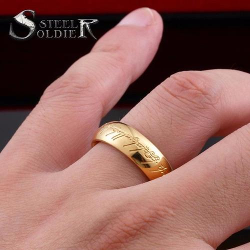 par de aliancas o anel senhor dos aneis  compromisso banhada