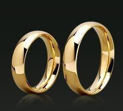 par de alianças ouro 18k 750 com 4,5mm e 5grs frete gratis
